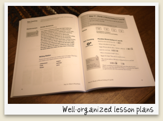 Well-organized lesson plans